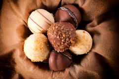 Chocolate praline Royalty Free Stock Images