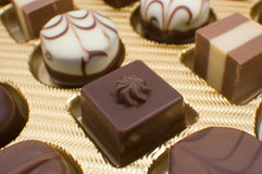 Chocolate pralines Royalty Free Stock Photos