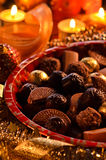 Chocolate pralines Royalty Free Stock Images
