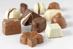 Chocolate pralines Royalty Free Stock Image