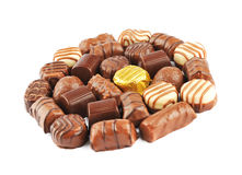 Chocolate Pralines Royalty Free Stock Photography