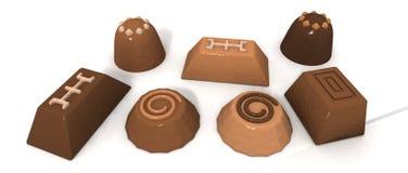 Chocolate pralines Stock Image