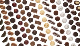 Chocolate pralines Royalty Free Stock Photos
