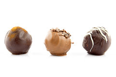 Chocolate pralines Stock Photos
