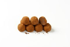 Chocolate pralines Stock Photography