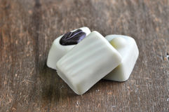 Chocolate pralines  (white chocolate) Royalty Free Stock Image