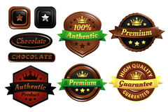 Chocolate Premium Authentic Badges Royalty Free Stock Photo
