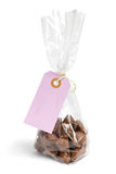 Chocolate present with blank label Royalty Free Stock Photos