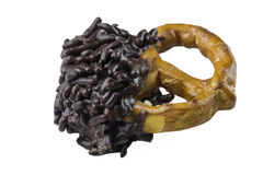 Chocolate pretzel candy Stock Photo