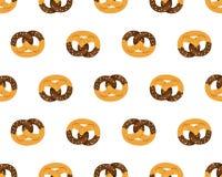 Chocolate pretzel pattern Royalty Free Stock Photos