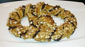 Chocolate pretzel Stock Photo