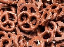 Chocolate pretzels Stock Photos