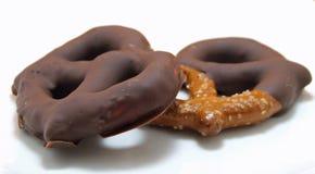 Chocolate pretzels Stock Photo