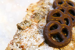 Chocolate pretzels Stock Image