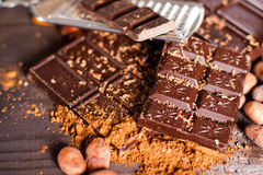 Chocolate products Stock Photos
