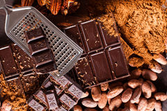 Chocolate products Royalty Free Stock Photos