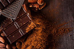 Chocolate products Royalty Free Stock Photo