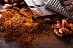Chocolate products Royalty Free Stock Image