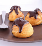 Chocolate profiteroles Stock Photography