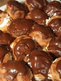 Chocolate Profiteroles Royalty Free Stock Photography