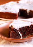Chocolate and prune cake Royalty Free Stock Photography