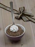 Chocolate pudding Stock Photo