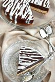 Chocolate pudding cake Royalty Free Stock Image