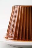 Chocolate pudding closeup Stock Photos