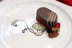 Chocolate Pudding creme caramel Stock Image