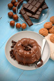 Chocolate pudding Stock Images
