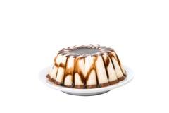 Chocolate pudding isolated Stock Image