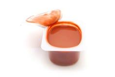 Chocolate pudding snack Stock Photo