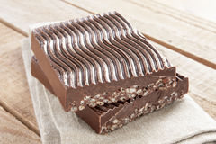 Chocolate with puffed rice Royalty Free Stock Photo