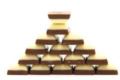 Chocolate pyramid Stock Photos