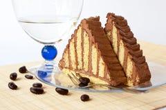 Chocolate pyramid Stock Photo