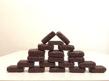 Chocolate Pyramid Stock Photography
