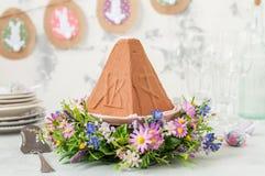 Chocolate Quark Dessert da Páscoa, Paskha foto de stock royalty free
