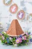 Chocolate Quark Dessert da Páscoa, Paskha fotografia de stock