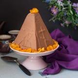 Chocolate Quark Dessert da Páscoa, Paskha imagens de stock royalty free