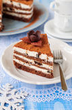 Chocolate, Quark and Prune Layer Cake Royalty Free Stock Photo