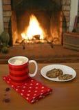 Chocolate quente & bolinhos Imagens de Stock