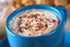 Chocolate quente com creme fotos de stock royalty free