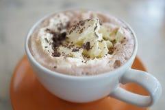 Chocolate quente com creme Foto de Stock Royalty Free