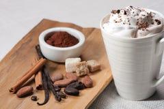 Bebida do chocolate imagens de stock