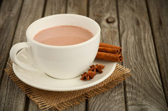 Chocolate quente com especiarias imagens de stock