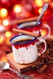 Chocolate quente com especiarias foto de stock royalty free