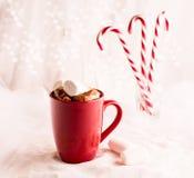 Chocolate quente com Marshmallows Imagens de Stock