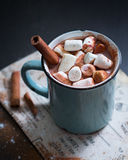 Chocolate quente com Marshmallows Fotografia de Stock
