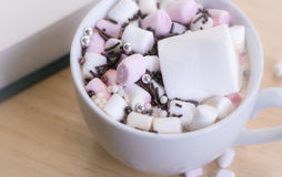 Chocolate quente com Marshmallows Fotografia de Stock Royalty Free