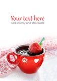 Chocolate quente da morango fotografia de stock royalty free